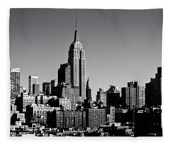 Timeless - The Empire State Building And The New York City Skyline Fleece Blanket