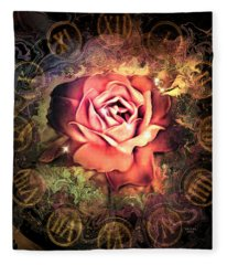 Timeless Rose Fleece Blanket