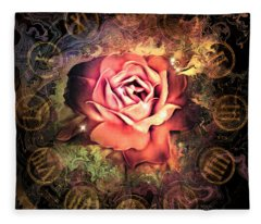 Timeless Rose Fleece Blanket