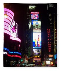 Times Square 1 Fleece Blanket
