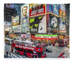 Times Square II Fleece Blanket