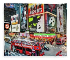 Times Square II Special Edition Fleece Blanket