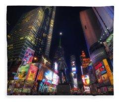 Times Square Moonlight Fleece Blanket