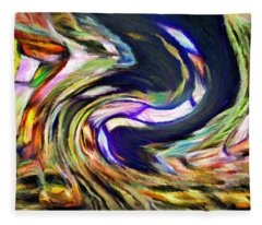 Times Square Swirl Fleece Blanket
