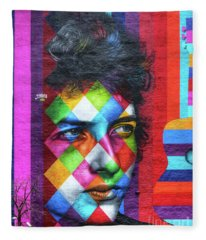 Times They Are A Changing Giant Bob Dylan Mural Minneapolis Detail 1 Fleece Blanket