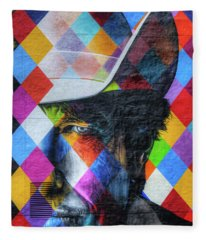 Times They Are A Changing Giant Bob Dylan Mural Minneapolis Detail 3 Fleece Blanket