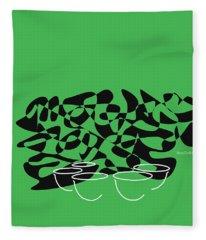 Timpani In Green Fleece Blanket