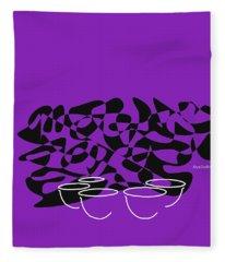 Timpani In Purple Fleece Blanket
