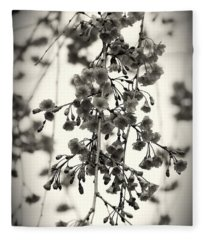 Tiny Buds And Blooms Fleece Blanket