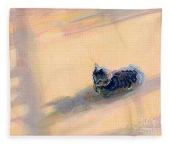 Tiny Kitten Big Dreams Fleece Blanket