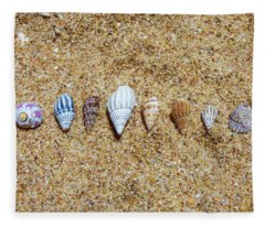 Tiny Seashells On The Sand Fleece Blanket