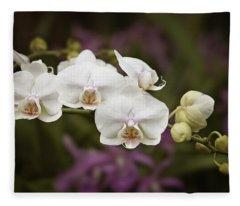 Tiny White Dancers Fleece Blanket