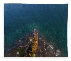 Fleece Blanket featuring the photograph Tip Of Borneo View Point From Above, Malaysia by Pradeep Raja PRINTS
