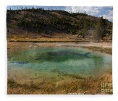 Tire Pool At The Fairy Falls Trailhead In Yellowstone Fleece Blanket
