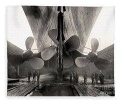 Titanic's Propellers  Fleece Blanket