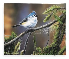 Titmouse Fleece Blanket