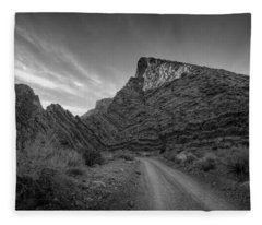 Titus Canyon Road Fleece Blanket