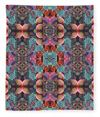 T J O D Mandala Series Puzzle 7 Arrangement 2 Multiplied Fleece Blanket