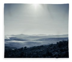 To A Peaceful Valley Fleece Blanket