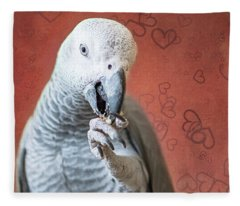To Be Owned By A Grey Is To Know Love Fleece Blanket