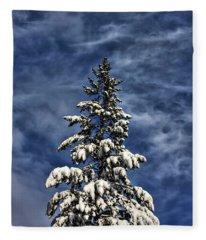 To Blue Horizons Fleece Blanket