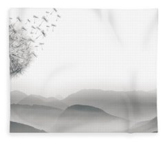 To Fly Only For A Moment Fleece Blanket