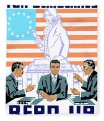 To Speak Up For Democracy Read Up On Democracy Fleece Blanket