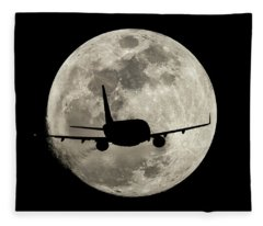 To The Moon Alice Fleece Blanket