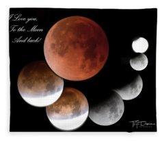 To The Moon And Back Fleece Blanket