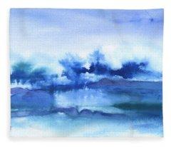 Tofino Waves Abstract Fleece Blanket