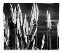 Toi Toi In Black And White Fleece Blanket