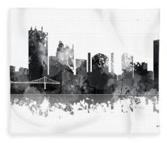 Toledo Ohio Skyline Fleece Blanket
