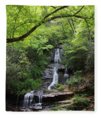 Tom Branch Falls - Gsmnp Fleece Blanket