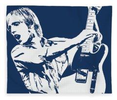 Tom Petty - Portrait 02 Fleece Blanket
