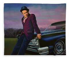 Tom Waits Fleece Blanket