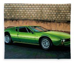 Tomaso Mangusta 1967 Painting Fleece Blanket