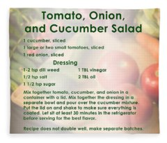 Tomato Onion Cucumber Salad Recipe Fleece Blanket