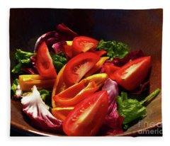 Tomato Salad Fleece Blanket