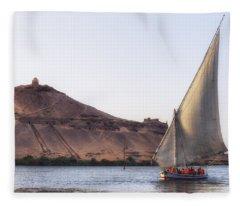 Tombs Of The Nobles - Egypt Fleece Blanket