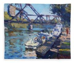 Tonawanda Jack Knife Bridge Fleece Blanket