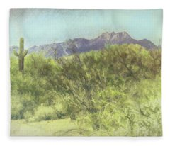 Tonto National Forest Fleece Blanket