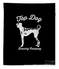 Top Dog Brewing Company Tee White Ink Fleece Blanket