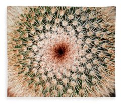 Top Of Cactus Fleece Blanket