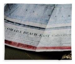 Top Secret - Omaha Beach Fleece Blanket