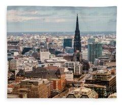 Top View Of Hamburg Fleece Blanket