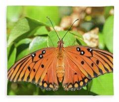 Top Wings Gulf Fritillary Fleece Blanket