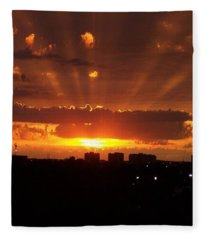 Toronto - Just One Breathtaking Sunset Fleece Blanket