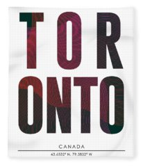 Toronto, Canada - City Name Typography - Minimalist City Posters Fleece Blanket