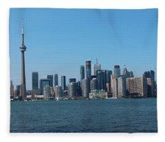 Toronto Cityscape Fleece Blanket