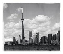 Toronto Skyline 11 Fleece Blanket